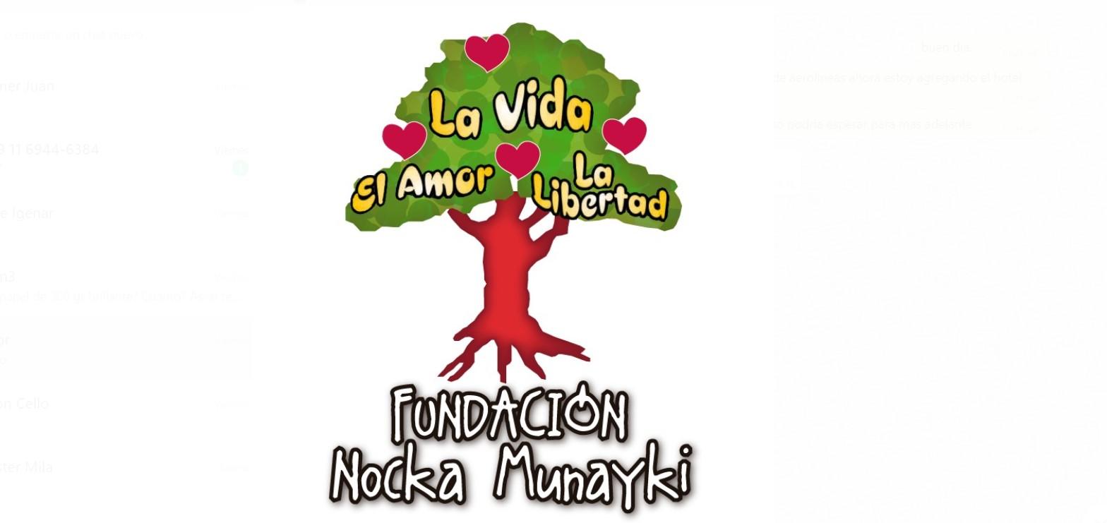 Apadrinamos a Fundación Nocka Munayki